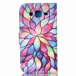 Pictu peňaženkové puzdro pre Samsung Galaxy J5 - farebné lístky - 2