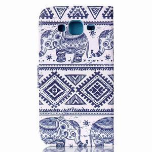 Pictu peněženkové pouzdro na Samsung Galaxy J5 - sloni - 2