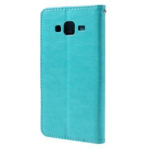 Peňaženkové puzdro pre mobil Samsung Galaxy J5 - modré - 2