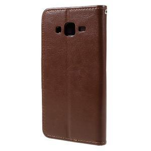 Peňaženkové puzdro pre mobil Samsung Galaxy J5 - hnedé - 2
