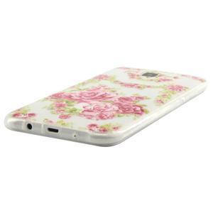 Ultratenký slim gélový obal pre Samsung Galaxy J5 - kvety - 2
