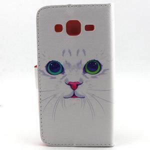 Knížkové puzdro pre mobil Samsung Galax J5 - mačička - 2