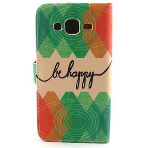 Knížkové puzdro pre mobil Samsung Galax J5 - be happy - 2
