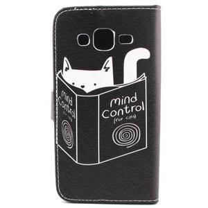 Knížkové puzdro pre mobil Samsung Galax J5 - mačka čte - 2