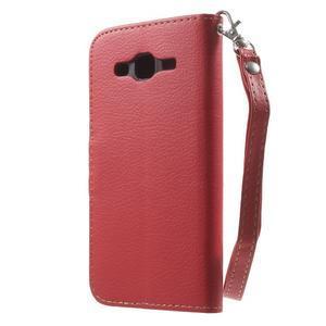 Leaf peňaženkové puzdro pre Samsung Galaxy J5 - červené - 2