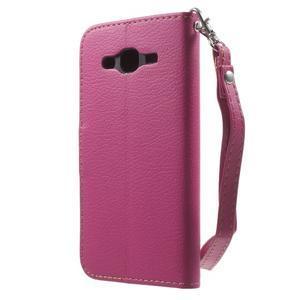 Leaf peňaženkové puzdro pre Samsung Galaxy J5 - rose - 2