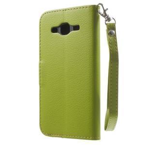 Leaf peňaženkové puzdro pre Samsung Galaxy J5 - zelené - 2