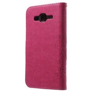 Butterfly PU kožené puzdro pre Samsung Galaxy J5 - rose - 2