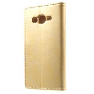 Mercury PU kožené puzdro pre mobil Samsung Galaxy J5 - zlaté - 2