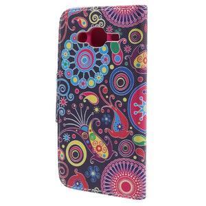 Dairy peňaženkové puzdro pre Samsung Galaxy J5 - farebné kruhy - 2