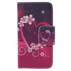 Dairy peňaženkové puzdro pre Samsung Galaxy J5 - srdca - 2
