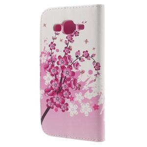 Dairy peněženkové pouzdro na Samsung Galaxy J5 - květoucí větvička - 2