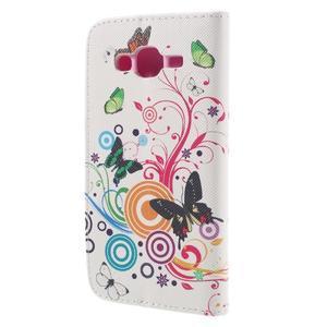 Dairy peněženkové pouzdro na Samsung Galaxy J5 - motýlci - 2