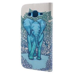 Dairy peněženkové pouzdro na Samsung Galaxy J5 - modrý slon - 2