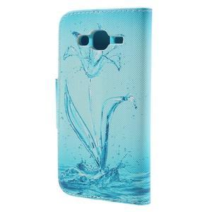 Dairy peněženkové pouzdro na Samsung Galaxy J5 - vodní květ - 2