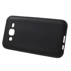 Texturový gelový obal na Samsung Galaxy J5 - černý - 2