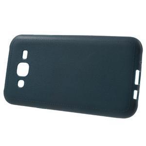 Texturový gelový obal na Samsung Galaxy J5 - tmavěmodrý - 2