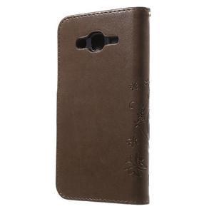 Butterfly PU kožené pouzdro na Samsung Galaxy J5 - coffee - 2