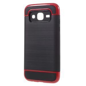 Odolný obal na mobil Samsung Galaxy J5 - červený - 2