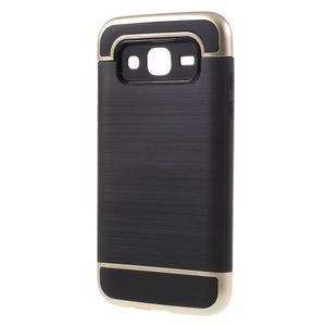 Odolný obal pre mobil Samsung Galaxy J5 - zlatý - 2