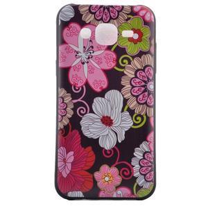 Jelly gélový obal pre mobil Samsung Galaxy J5 - koláž kvetin - 2