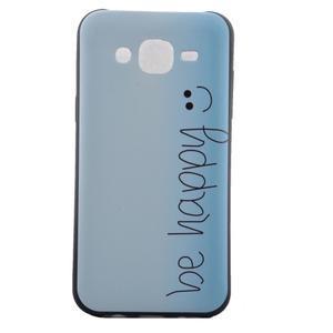 Jelly gélový obal pre mobil Samsung Galaxy J5 - be happy - 2