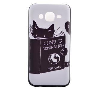 Jelly gelový obal na mobil Samsung Galaxy J5 - kočička čte - 2