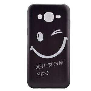 Jelly gélový obal pre mobil Samsung Galaxy J5 - nedotýkať sa - 2