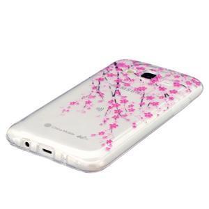 Trans gélový obal pre mobil Samsung Galaxy J5 - kvitnúca čerešňa - 2