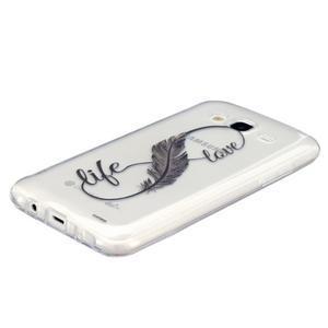 Trans gelový obal na mobil Samsung Galaxy J5 - love - 2