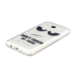 Trans gelový obal na mobil Samsung Galaxy J5 - nešahat - 2