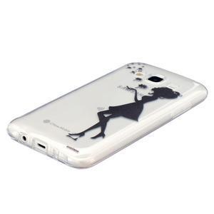Trans gélový obal pre mobil Samsung Galaxy J5 - dievča a  púpava - 2
