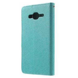 Crossy koženkové pouzdro na Samsung Galaxy J5 - modré - 2