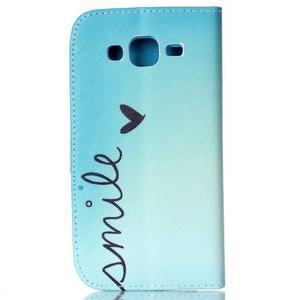 Pictu peňaženkové puzdro pre Samsung Galaxy J5 - smile - 2