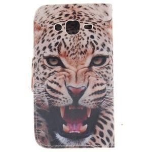Standy peněženkové pouzdro na Samsung Galaxy J5 - leopard - 2