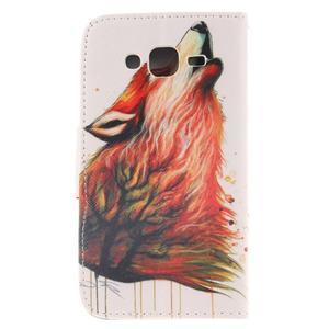 Standy peněženkové pouzdro na Samsung Galaxy J5 - lesní vlk - 2