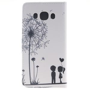 Style peňaženkové puzdro pre Samsung Galaxy J5 (2016) - láska - 2