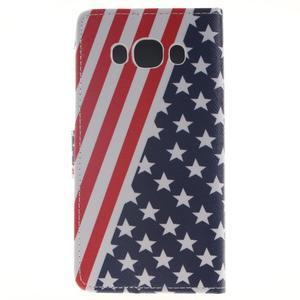 Style peňaženkové puzdro pre Samsung Galaxy J5 (2016) - US vlajka - 2