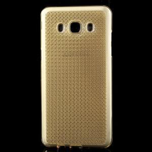 Diamnods gelový obal mobil na Samsung Galaxy J5 (2016) - zlatý - 2