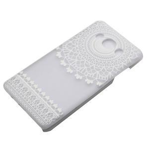 Transparentný plastový obal pre Samsung Galaxy J5 (2016) - krajky - 2