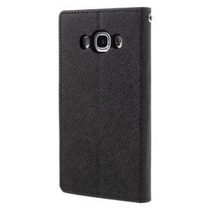 Diary PU kožené puzdro pre mobil Samsung Galaxy J5 (2016) - čierne - 2