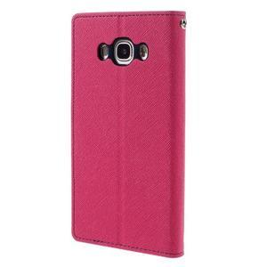 Diary PU kožené puzdro pre mobil Samsung Galaxy J5 (2016) - rose - 2