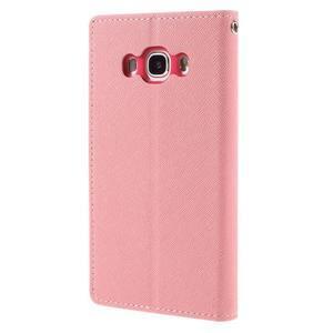 Diary PU kožené puzdro pre mobil Samsung Galaxy J5 (2016) - ružové - 2