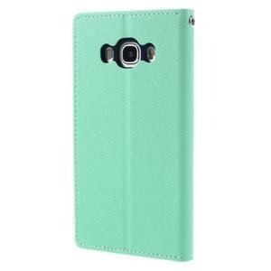 Diary PU kožené puzdro pre mobil Samsung Galaxy J5 (2016) - azúrové - 2