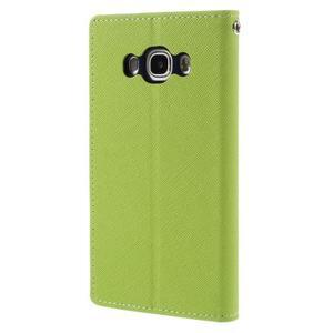 Diary PU kožené puzdro pre mobil Samsung Galaxy J5 (2016) - zelené - 2