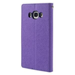 Diary PU kožené puzdro pre mobil Samsung Galaxy J5 (2016) - fialové - 2