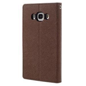 Diary PU kožené puzdro pre mobil Samsung Galaxy J5 (2016) - hnedé - 2