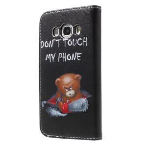 Nice peňaženkové puzdro pro Samsung Galaxy J5 (2016) - zlej méďa - 2