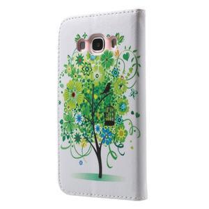Nice peňaženkové puzdro pro Samsung Galaxy J5 (2016) - vtáčie strom - 2