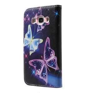 Nice peňaženkové puzdro pro Samsung Galaxy J5 (2016) - čarovné motýle - 2